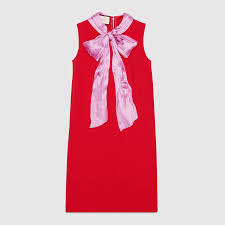 stretch viscose dress with bow gucci women u0027s dresses 470313x5r166567