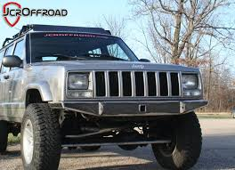 jeep aftermarket bumpers 84 01 jeep xj heavy duty aftermarket front winch bumpers