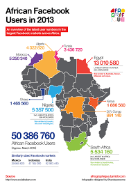 Africas Map by Top 10 African Countries On Facebook It News Africa U2013 Africa U0027s