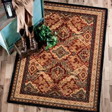Rustic Lodge Rugs Southwest Rugs Manor Lodge Rug Collection Lone Star Western Decor