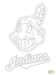 clevelend indians logo coloring page free printable coloring pages