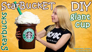 how to make giant starbucks cup diy starbucks storage bucket