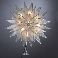 lighted tree topper 11 lighted capiz silver sunburst christmas tree