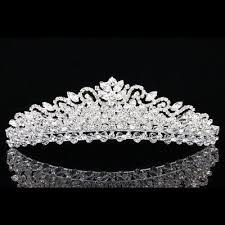 wedding crowns bridal pageant rhinestone prom wedding crown tiara 7897