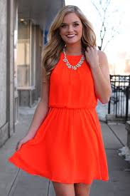 orange dress dress neon orange dress coral jewels wheretoget