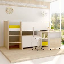 Niko Loft Bunk Bed With Rollout Desk  Cabinet Shop Online - Study bunk bed