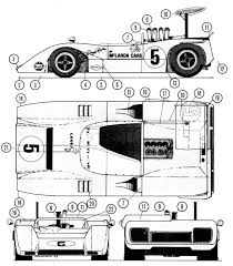mclaren drawing mclaren m8a racing car blueprint pinterest cars racing team