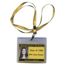 name tags for class reunions lanyard premium class reunion name tag with scanned yearbook