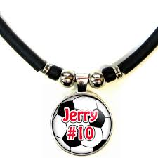 glass ball necklace images Personalized soccer ball 3d glass pendant necklace with name number jpg