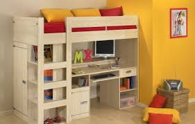 Amazon Com Bunk Bed All In 1 Loft With Trundle Desk Chest Closet by Storage Loft Bed Gami Montana Loft Beds With Desk Closet And