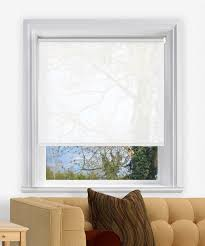 sheer white wire free electric made to measure roller blind