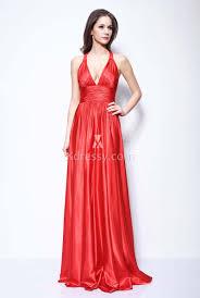 vanessa hudgens red satin v neck cheap celebrity long bridesmaid