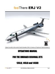 erj v2 operations manual aerospace engineering aviation