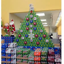 Pepsi Christmas Ornaments - clever holiday beverage stackers point of purchase international