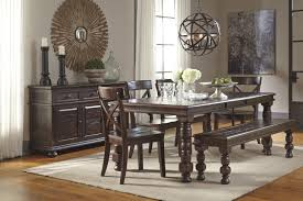 6 Piece Dining Table Set With Bench attractive Ashley Furniture