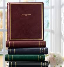 personalized leather photo album presidential personalized photo album leather photo albums