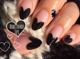 no tools heart french tip nails by the crafty ninja youtube