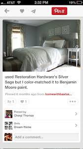 silver sage restoration hardware matched to benjamin moore