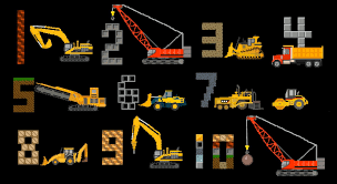 construction vehicles counting count to ten with trucks the