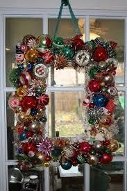 vintage ornament wreath shiny brite ornament wreath