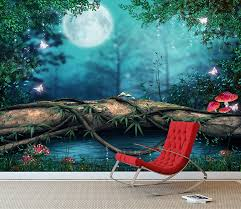 fantasy enchanted fairy pond wall mural photo wallpaper girls fantasy enchanted fairy pond wall mural photo wallpaper girls bedroom decal xx large 3000mm x 2400mm amazon co uk kitchen home