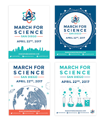 At Home Design Quarter March For Science San Diego On Behance