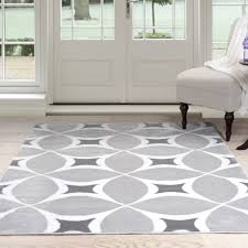 Area Rugs White Somerset Home Geometric Area Rug Grey And White Walmart