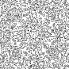 coloring pages adults seamles henna mehndi doodles abstract