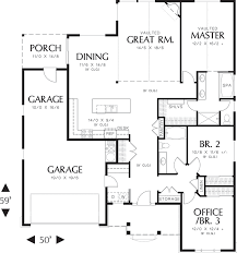 ranch house plans 2500 square feet arts 4 bed 3 bath planskill 14