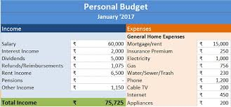 Excel Personal Budget Template Personal Budget Excel Template Exceldatapro