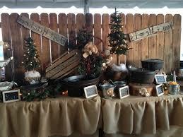 rustic wedding buffet table decorations