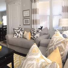 Grey And Yellow Home Decor Gray Blue U0026 Yellow Liking This For The New Living Room