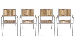 chaise jardin bois fauteuil de jardin en bois et aluminium