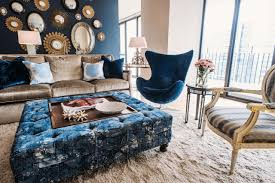 blue living room chairs cool down your design with blue velvet furniture hgtv s