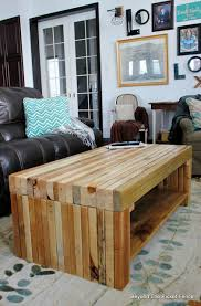 build a coffee table beyond the picket fence building lessons pallet coffee table