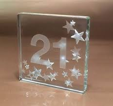 happy 21st birthday gifts idea spaceform glass keepsake great gift