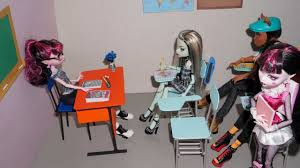 Monster High Doll House Furniture How To Make A Student Chair With Table Desk For Dolls