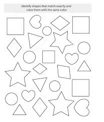 Free Printable Shapes Worksheets Color By Shape Worksheet Kiddo Shelter
