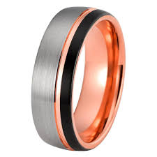 mens gold wedding band tungsten wedding rings