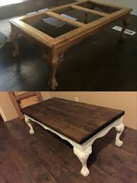 Making Wooden End Table by Redo Coffee Table With Wooden Top Instead Of Glass Home