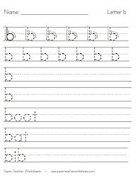 letter b worksheets recognize trace u0026 print