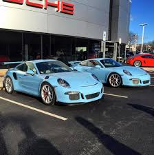 miami blue porsche porsche 991 gt3 rs in the great looking color miami blue cars