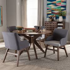mid century dining room furniture monte mid century modern wood round 5 piece dining set reviews