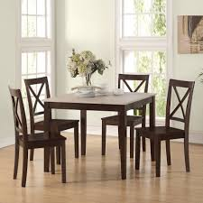 dorel living hillside rustic 5 piece dining set rustic wood