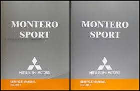 2004 mitsubishi montero sport original repair shop manual set