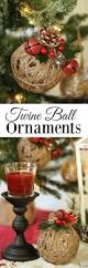 rustic christmas ornaments tutorial easy glittered twine ball