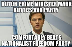 Dutch Memes - rutte s vvd beats freedom party in dutch election memenews