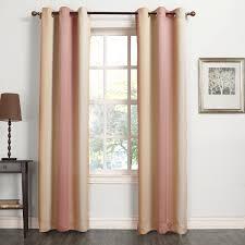 decor casual burlap black and white print room darkening curtains