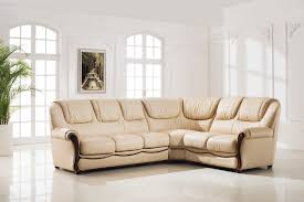 Top Grain Leather Sectional Sofa Living Room Living Room Design Idea Featured Cream Leather