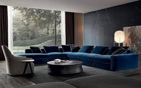 canapé d angle en velours les matières et les couleurs de la rentrée canapé